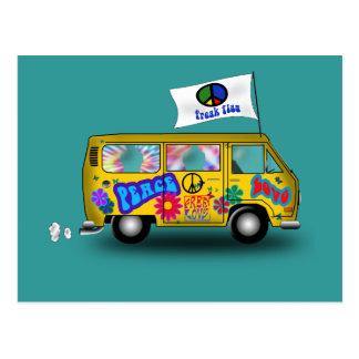 Carte Postale Van hippie magique