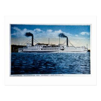 Carte Postale Vapeurs Ticonderoga et Vermont, Burlington, VT