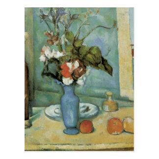 Carte Postale Vase à bleu de Cezanne
