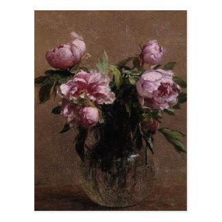 Carte Postale Vase à Henri Fantin-Latour- de pivoines