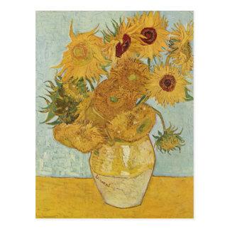 Carte Postale Vase à Vincent van Gogh avec 12 tournesols