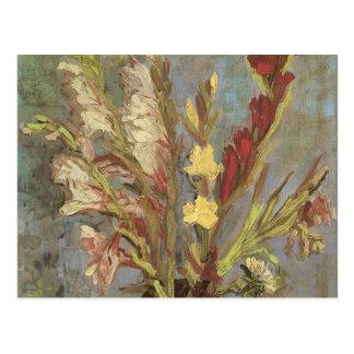 Carte Postale Vase avec des Gladioli par Vincent van Gogh