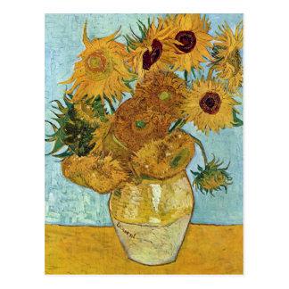 Carte Postale Vase avec douze tournesols par Van Gogh