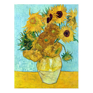 Carte Postale Vase avec douze tournesols par Vincent van Gogh