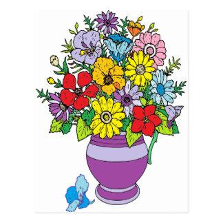 Carte Postale Vase de fleurs