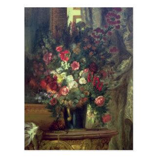 Carte Postale Vase de fleurs sur une console, 1848-49