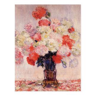 Carte Postale Vase de pivoines par Claude Monet