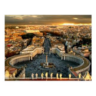 Carte Postale Vatican carré de St Peter