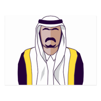 Carte Postale Vecteur arabe de prince