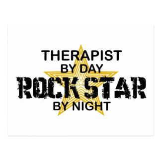 Carte Postale Vedette du rock de thérapeute par nuit