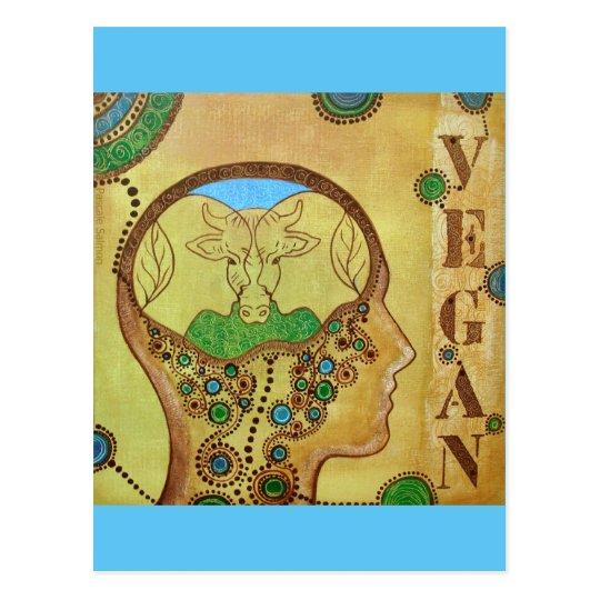 Carte postale vegan human animal