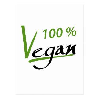 Carte Postale Végétalien de 100 pour cent