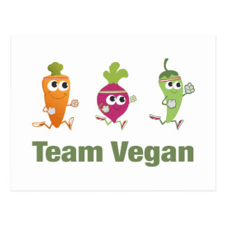 Carte Postale Végétalien d'équipe ! Légume courant