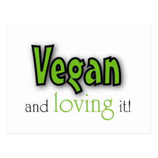 Carte Postale Végétalien et l'aimant