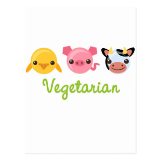 Carte Postale Végétarien