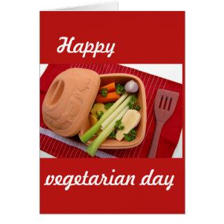 Carte postale végétarienne heureuse de jour