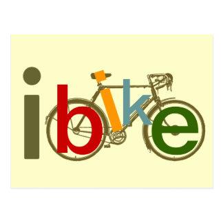 Carte Postale vélo, bicyclette ; faire du vélo/faisant un cycle