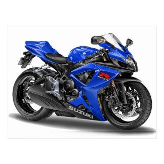 Carte Postale Vélo de bleu de Suzuki GSX-R600