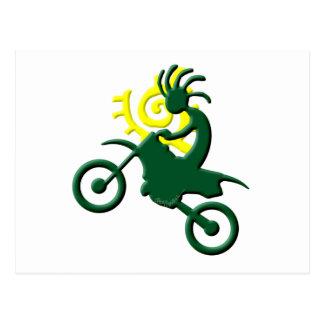 Carte Postale Vélo de saleté de Natif américain de Kokopelli