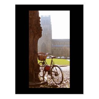 Carte Postale Vélo et cathédrale de Durhm