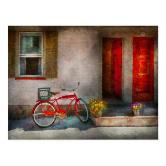 Carte Postale Vélo - l'accueil, portes s'ouvrent