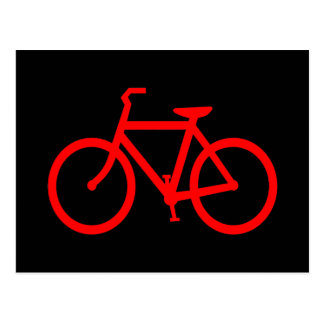 Carte Postale Vélo rouge