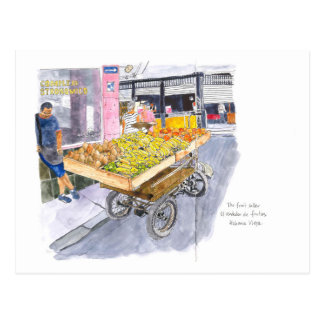 Carte Postale Vendeur de fruit à vieille La Havane, Cuba