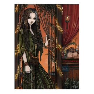 Carte Postale Vendeuse de Bohème de café de Rhianon