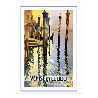 Carte Postale Venise et Le Lido Vintage