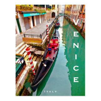 Carte Postale Venise, Italie (IT) - station colorée de gondole