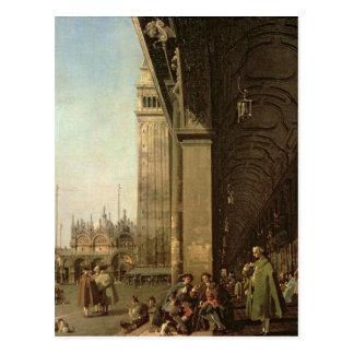 Carte Postale Venise : Piazza di San Marco et la colonnade