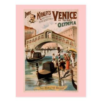 """Carte Postale """"Venise théâtre vintage d'aujourd'hui"""""""