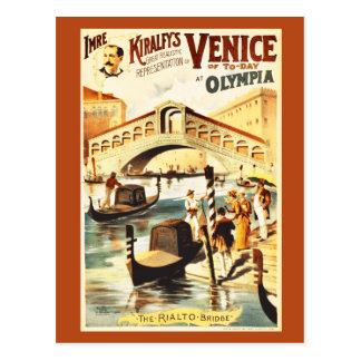 Carte Postale Venise vintage d'aujourd'hui, pont de Rialto