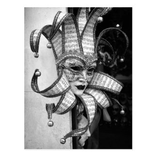 Carte postale vénitienne de masque de Carnevale