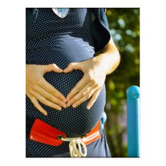 Carte Postale Ventre de femme enceinte