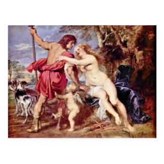 Carte Postale Vénus et Adonis par Rubens Peter Paul