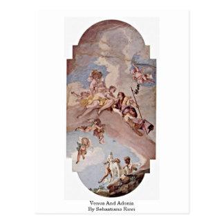 Carte Postale Vénus et Adonis par Sebastiano Ricci