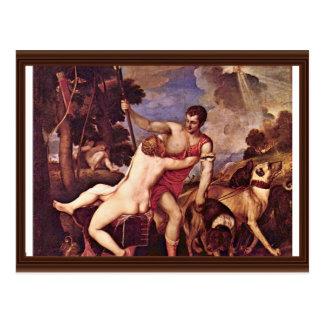 Carte Postale Vénus et Adonis, par Tizian (la meilleure qualité)