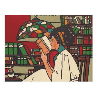 Carte Postale Ver de livre de PIÈCE EN T