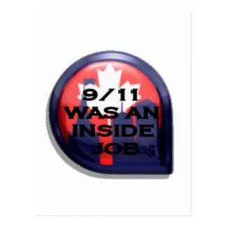 Carte Postale Vérité du Canada 911 à l'intérieur du travail