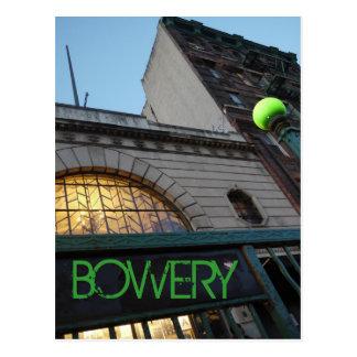 Carte Postale Vers le bas sur Bowery