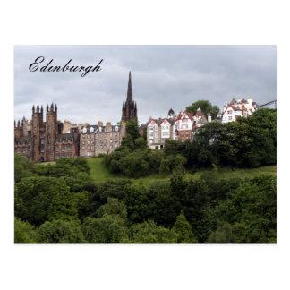 Carte Postale vert d'Edimbourg