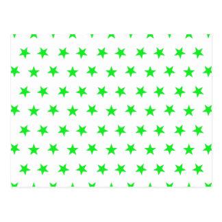 Carte Postale Vert des étoiles 8