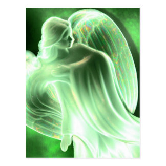 Carte postale verte d'ange