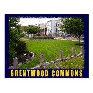 Carte postale verte de Brentwood de l'espace de