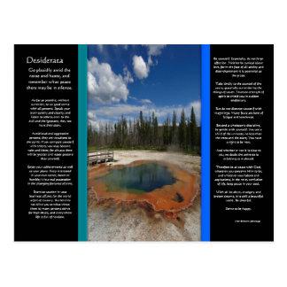 Carte postale verte de piscine de DESIDERATA