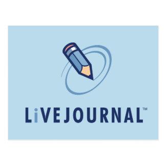 Carte Postale Verticale de logo de LiveJournal
