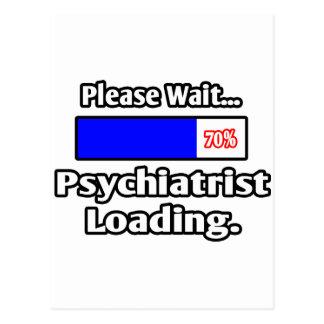 Carte Postale Veuillez attendre… le chargement de psychiatre