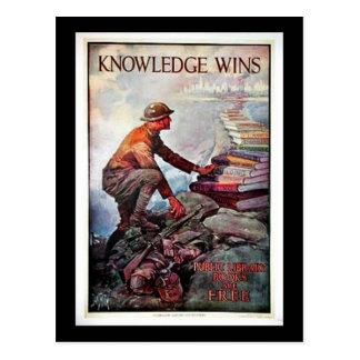 Carte Postale Victoires de la connaissance