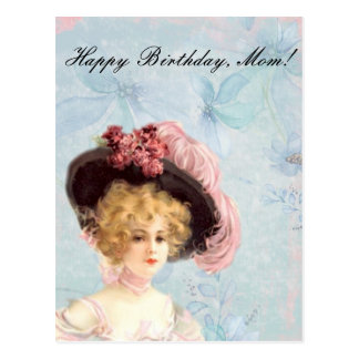 Carte postale victorienne de maman de Madame